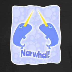 Double Narwhal Duel - Men's Long Sleeve T-Shirt