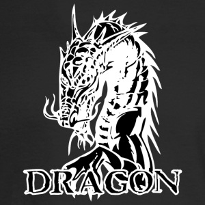 agry_looking_dragon_black - Men's Long Sleeve T-Shirt