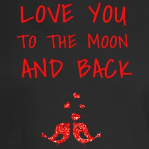 love you to the moon and back II - Men's Long Sleeve T-Shirt