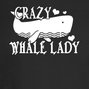 Crazy Whale Lady Tee Shirt - Men's Long Sleeve T-Shirt