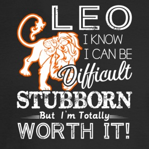 Leo Difficult Stubborn But Totally Worth It - Men's Long Sleeve T-Shirt