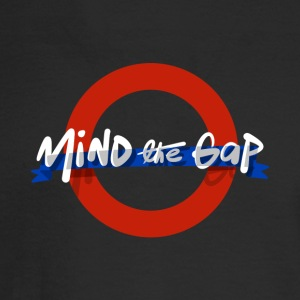 London Underground Funny Mind The Gap UK T Shirt - Men's Long Sleeve T-Shirt