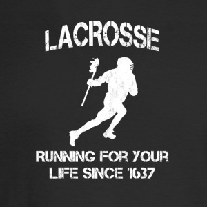Lacrosse - Running for your life since 1637 - Men's Long Sleeve T-Shirt