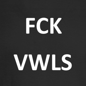 FCK VWLS WHT - Men's Long Sleeve T-Shirt