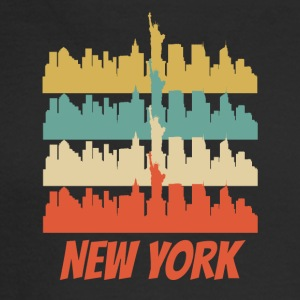 Retro New York City Skyline Pop Art - Men's Long Sleeve T-Shirt