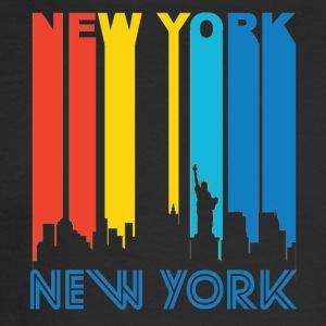 Retro New York Skyline - Men's Long Sleeve T-Shirt