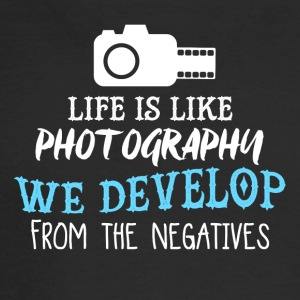 Life Is Like Photography PNG - Men's Long Sleeve T-Shirt