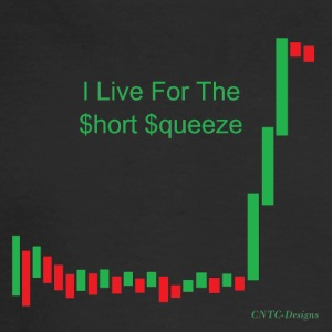 I live for the short squeeze - Men's Long Sleeve T-Shirt