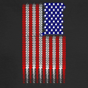 Bike USA Flag Bike USA A fun design for MTB ride - Men's Long Sleeve T-Shirt