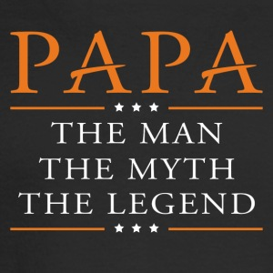 Papa the man, myth, and legend - Men's Long Sleeve T-Shirt