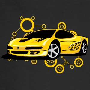 Yellow_Ferrari - Men's Long Sleeve T-Shirt