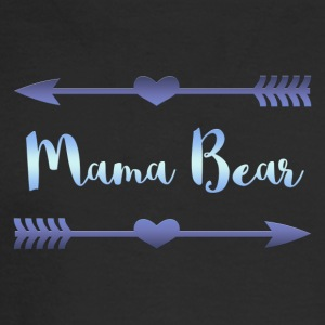 Mama Bear- Blue Gradient Design - Men's Long Sleeve T-Shirt