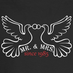 Mr And Mrs Since 1985 Married Marriage Engagement - Men's Long Sleeve T-Shirt