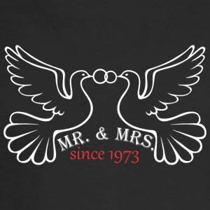 Mr And Mrs Since 1973 Married Marriage Engagement - Men's Long Sleeve T-Shirt