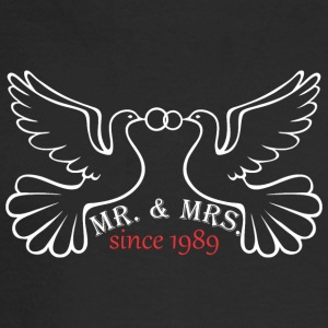Mr And Mrs Since 1989 Married Marriage Engagement - Men's Long Sleeve T-Shirt