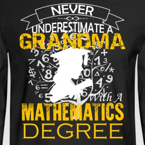 Mathematics Grandma Shirt - Men's Long Sleeve T-Shirt