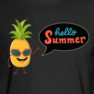 Pineapple Hello Summer - Men's Long Sleeve T-Shirt