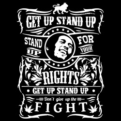 Get up stand up - Stand up for your rights - Don\'t give up the fight