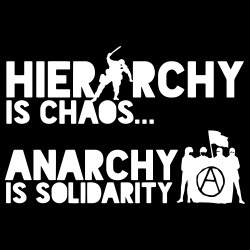 Hierarchy is chaos... Anarchy is solidarity