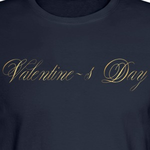 happy-valentines day-gold-inscription-cool - Men's Long Sleeve T-Shirt