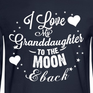 I love my granddaughter to the moon back - Men's Long Sleeve T-Shirt