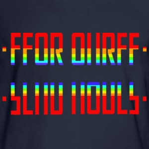 SEND NUDES /hidden message/rainbow - Men's Long Sleeve T-Shirt