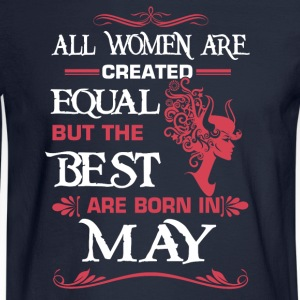 Women The best are born in May - Men's Long Sleeve T-Shirt