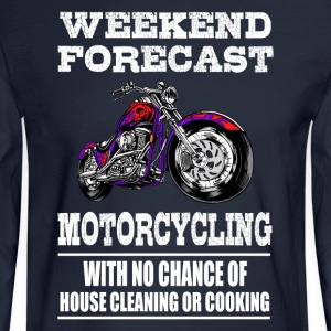 Weekend Forecast Motorcycling Motorcycle - Men's Long Sleeve T-Shirt