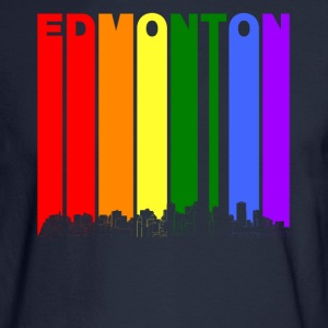 Edmonton Alberta Skyline Rainbow LGBT Gay Pride - Men's Long Sleeve T-Shirt