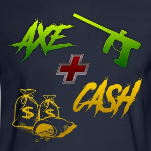Axe + Cash - Men's Long Sleeve T-Shirt