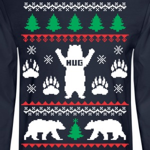 Bear Hug Festive - Men's Long Sleeve T-Shirt