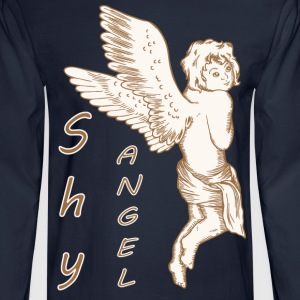 Shy Angel with Wings - Men's Long Sleeve T-Shirt
