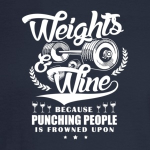 Weights And Wine - Men's Long Sleeve T-Shirt