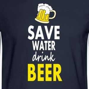 Save water drink beer - Men's Long Sleeve T-Shirt