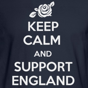 Keep Calm and support England - Men's Long Sleeve T-Shirt