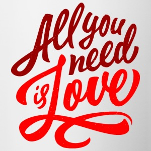 All You Need Is Love - Contrast Coffee Mug