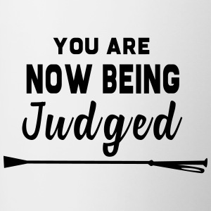 You Are Now Being Judged - Contrast Coffee Mug