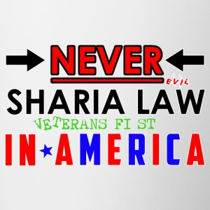 Never Sharia Law - Contrast Coffee Mug