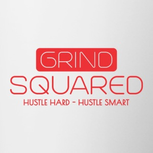 Grind Squared Swag - Hustle Hard And Smart Mug - Contrast Coffee Mug