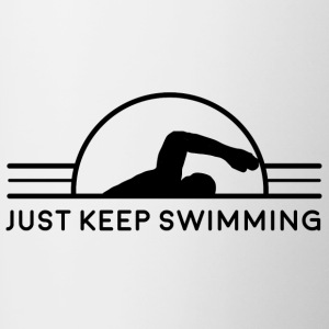 Just Keep Swimming - Contrast Coffee Mug