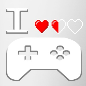 I Love Gaming White - Contrast Coffee Mug