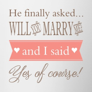 Will you marry me? - Contrast Coffee Mug