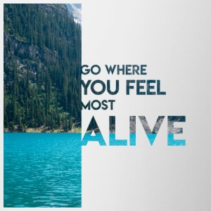 Go Feel Alive - Contrast Coffee Mug