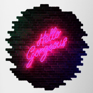Hello Gorgeous - Neon Sign - Contrast Coffee Mug