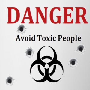 Avoid toxic people - Contrast Coffee Mug
