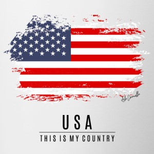 USA FLAG - THIS IS MY COUNTRY - Contrast Coffee Mug