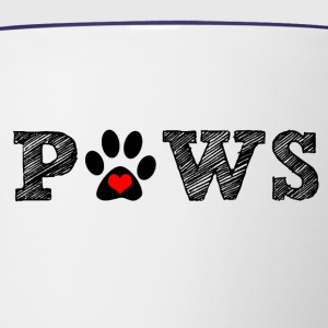 Paws animal graphic for dog and animal lovers. - Contrast Coffee Mug