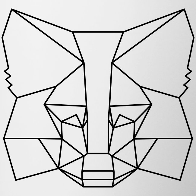MetaMask Fox Outline black