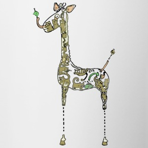 Blueprint for Building a Giraffe - Contrast Coffee Mug