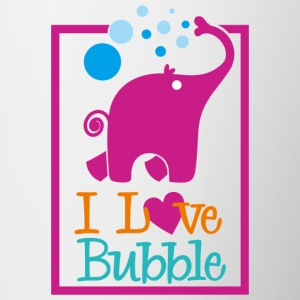 i love bubble - Contrast Coffee Mug